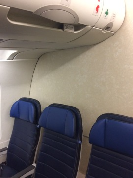 I was in the VERY back row of the plane