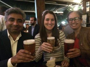 My advisor, me, and Daissy and Bogota Beer Company